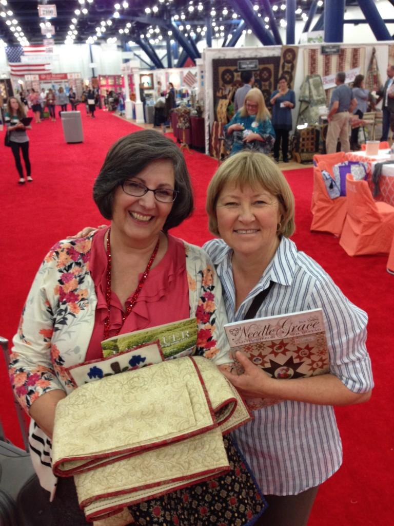Jan and Linda Collins...2014 International Quilt Market in Houston, TX.