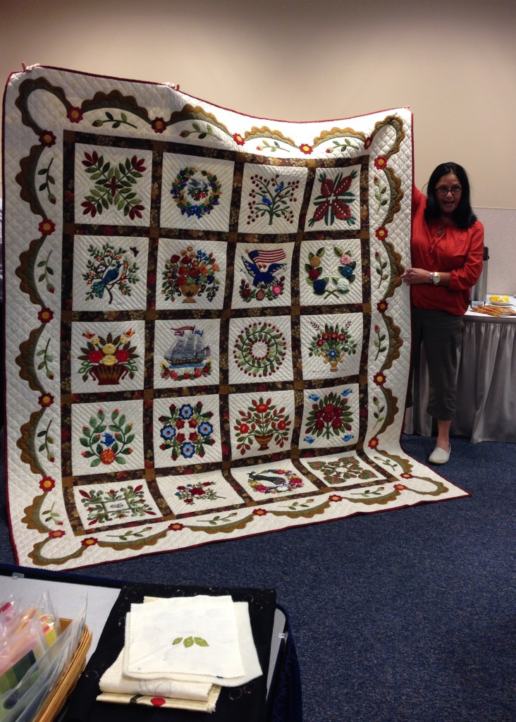 An exquisite Baltimore Album quilt by Carolyn Kimble
