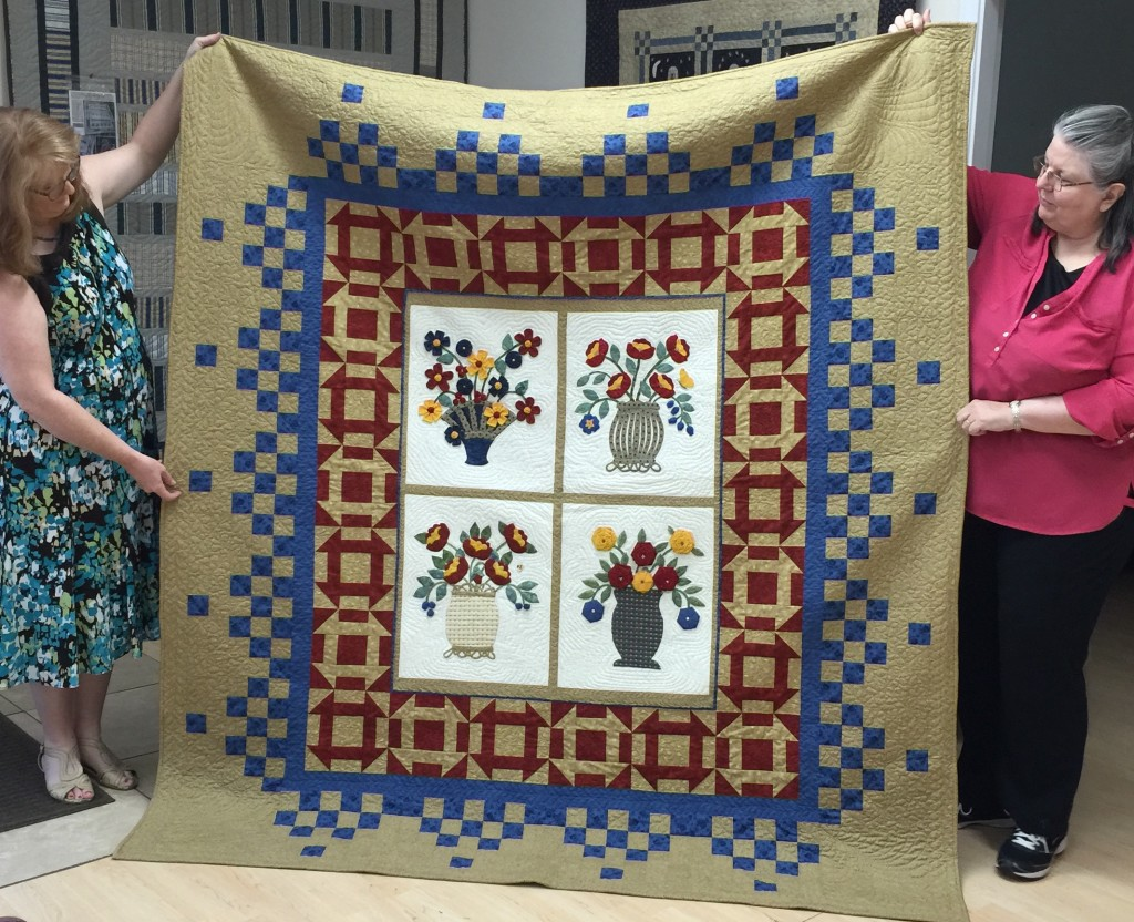 Baskets of Hope, designed by Marjorie Via for Friendship Quilters Guild 2015 Quiltfest Raffle Quilt