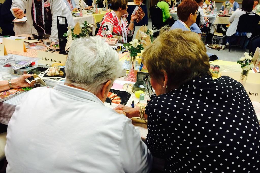 Sharing, 2015 Spring Tea & Stitches