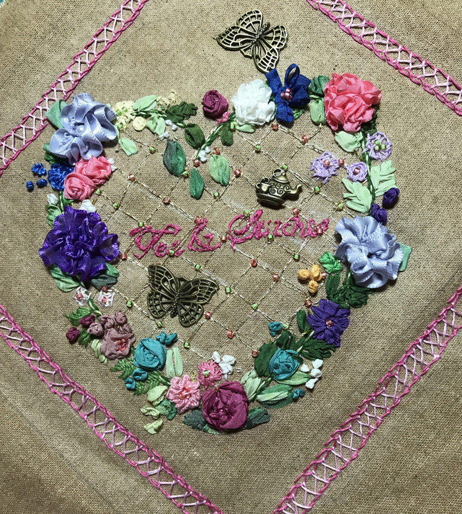 2017 Spring Tea & Stitches project by Bev Potter