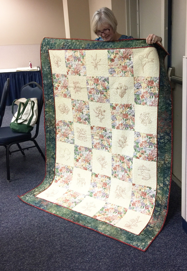 A beautiful Redwork Quilt by Joyce